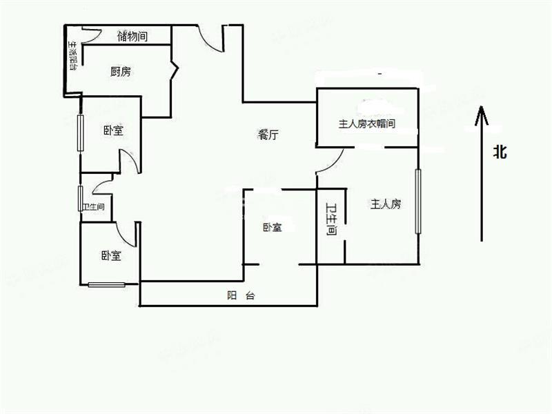 四房设计平面图