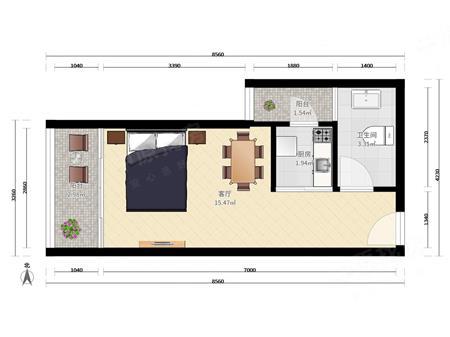 四海公寓 四海公园旁 两房一厅 投 资居家首 选