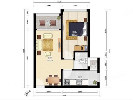 找房您受累 遇到好房别嫌贵 魅力时代花园标准一房一厅少有户型