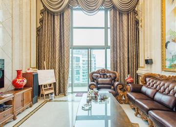 熙龙湾一期 高层中空复试欧式豪装5房 朝南看花园 满五年